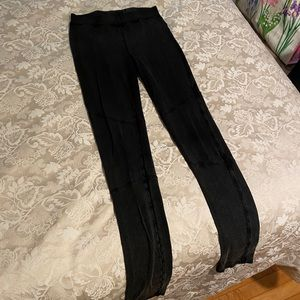 Dark Gray/Black DKNY Leggings